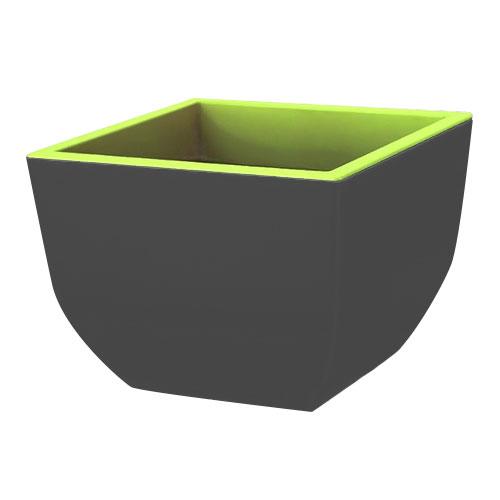 Ghiveci pătrat Muna bicolor, gri + verde, 29.5 cm imagine 1 articol 87399