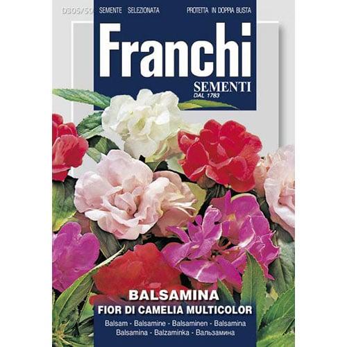 Balsamină cu flori de camelie, mix multicolor imagine 1 articol 87302