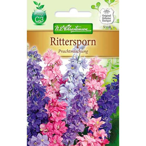 Delphinium (Nemțișor) cu flori mari, mix multicolor Chrestensen imagine 1 articol 78908