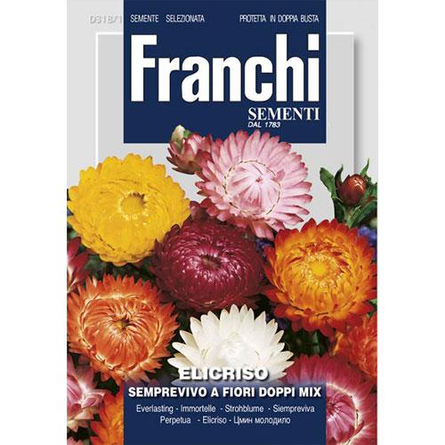 Flori de paie cu flori duble, mix multicolor imagine 1 articol 87314