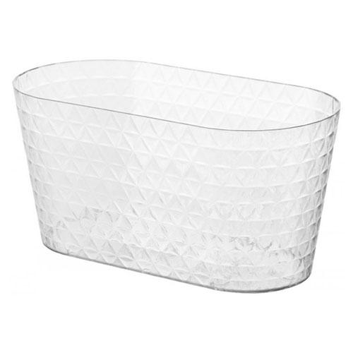 Mască de ghiveci transparentă Diamond Petit box, incolor, 23 cm imagine 1 articol 87388