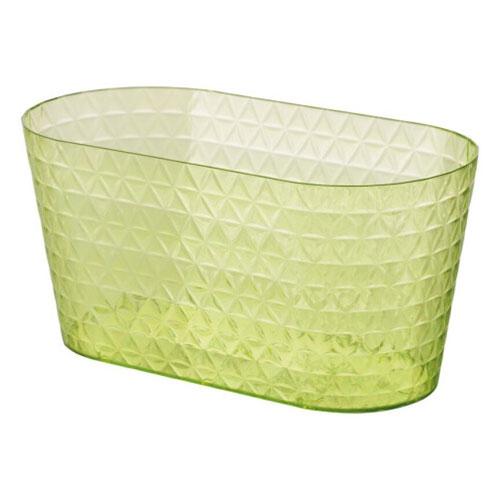 Mască de ghiveci transparentă Diamond Petit box, verde lime, 23 cm imagine 1 articol 87389