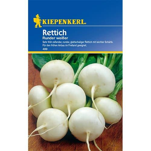 Ridiche albă Runder Weisser Kiepenkerl imagine 1 articol 87290