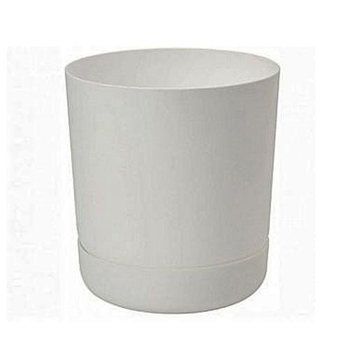 Set de ghiveci și farfurie Satina, alb, 17 cm imagine 1 articol 87400
