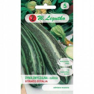 Dovlecel zucchini Striato d'Italia Legutko imagine 1