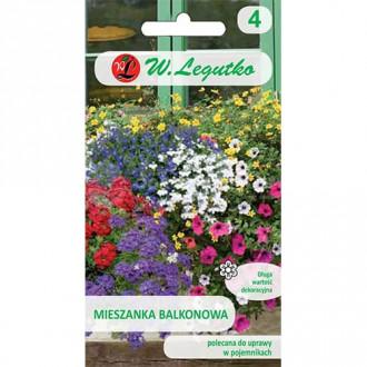 Flori pentru balcon, mix multicolor 2 Legutko imagine 1