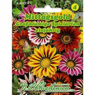 Gazania (Floarea comoară) Gigant, mix multicolor Chrestensen imagine 1