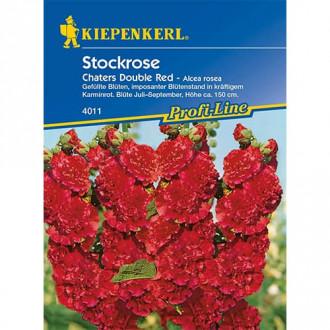 Nalbă de grădină (Alcea) Chaters Double Red Kiepenkerl imagine 3