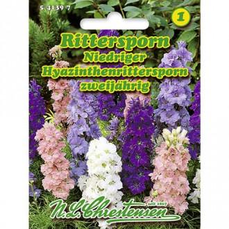 Nemțișor de câmp (Delphinium) mix multicolor Chrestensen imagine 2