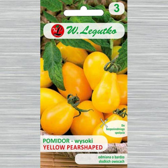 Roșie Yellow Pearshaped Legutko imagine 1
