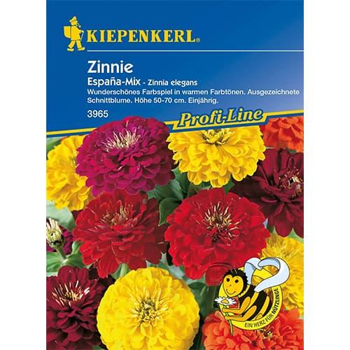 Zinnia (Cârciumăreasă) Espana, mix multicolor Kiepenkerl imagine 1 articol 77438