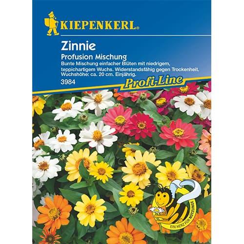 Zinnia (Cârciumăreasă) Profusion, mix multicolor Kiepenkerl imagine 1 articol 87270
